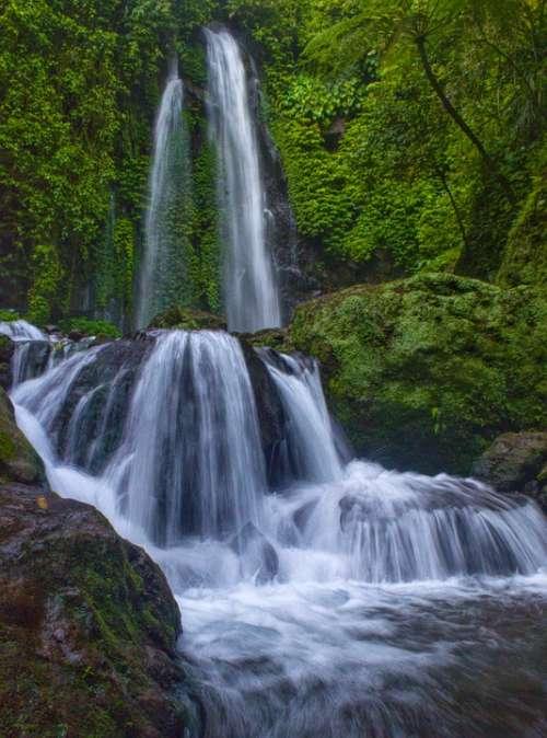 Waterfall Nature Landscape Water