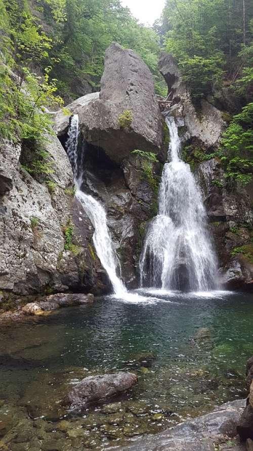Waterfall Bash Bish Massachusetts Berkshires Usa
