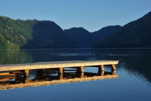 Waters Lake Web Nature Landscape Sky Panorama