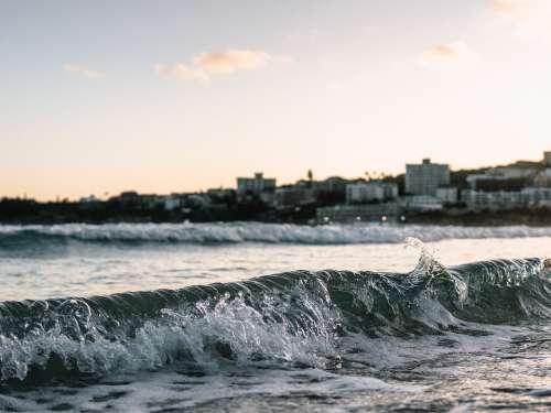 Wave Shorebreak Beach Ocean Sea Nature Waves