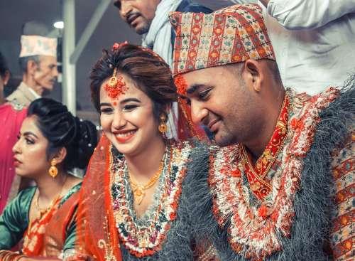 Wedding Hindu Culture Marriage Nepal Bride Groom
