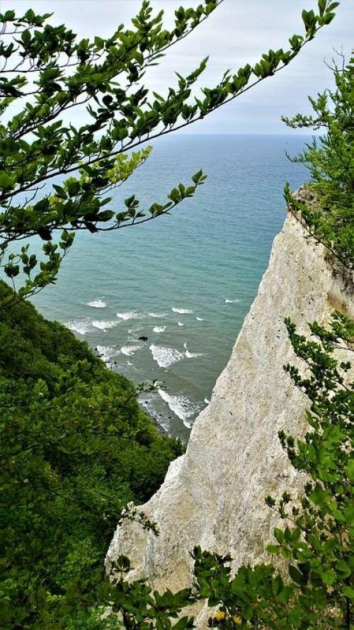 White Cliffs Baltic Sea Coast Sea Landscape Nature
