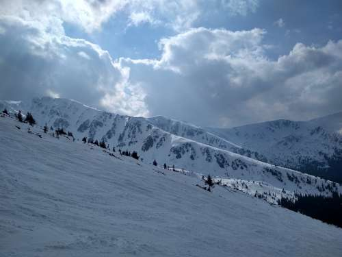 Winter Snow Cold Skiing Sport Fun Landscape