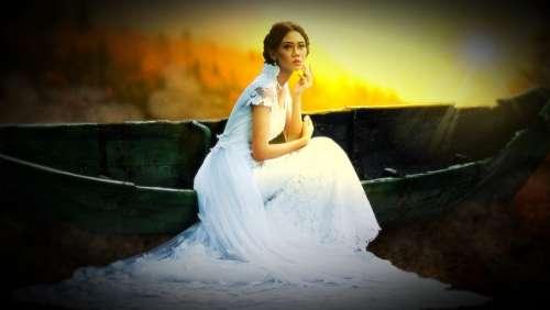 Woman Bride Human Dress Boat Romance White Love