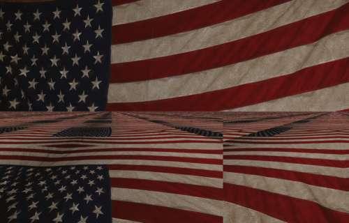 American Flag Reflection