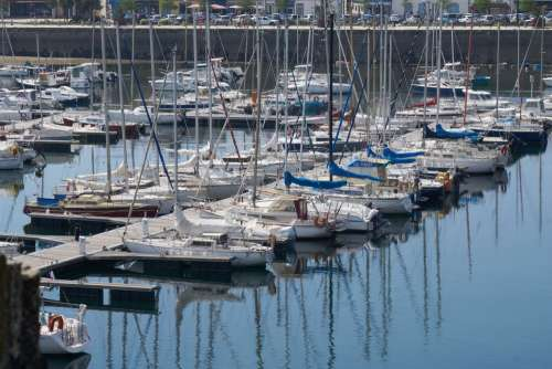Boats In The Harbor