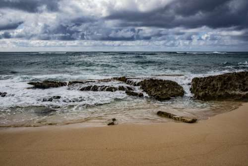 Beach At Oahu, Hawaii