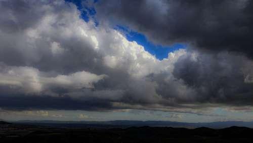 Cumulus Clouds Background