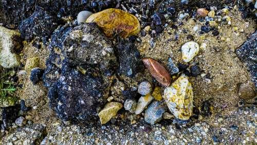 Rock And Asphalt Debris