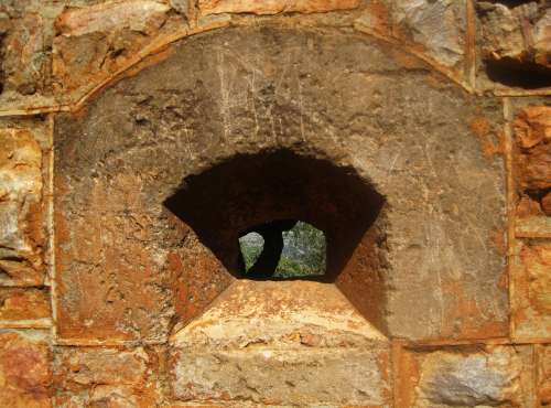 Shadow In The Alcove Of Fort Window