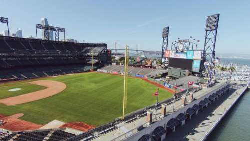 AT&T Park baseball stadium sports field