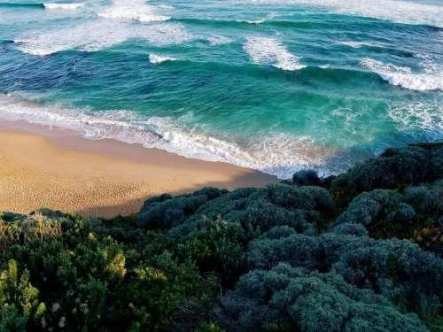 sea ocean blue water waves