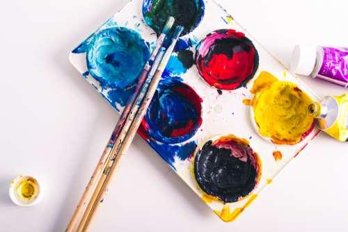 paint supplies top brush art