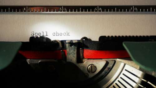 typewriter typing vintage words spelling