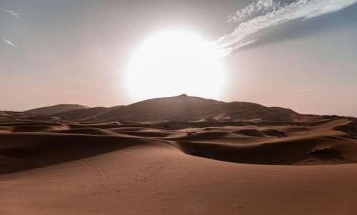 nature landscape sand desert sun