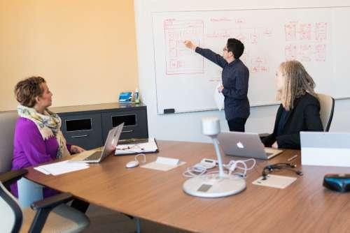 designers discuss project layout web design