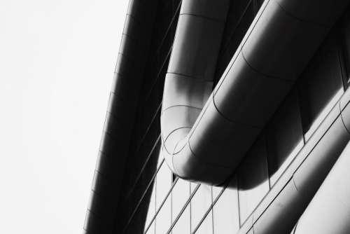 building structure architecture lines curves