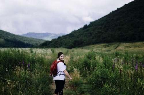 green grass mountain highland nature