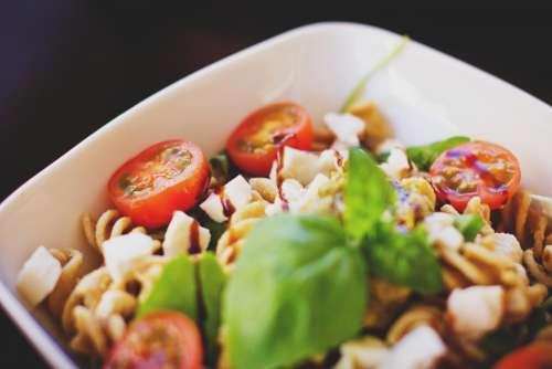 pasta salad food tomatoes healthy
