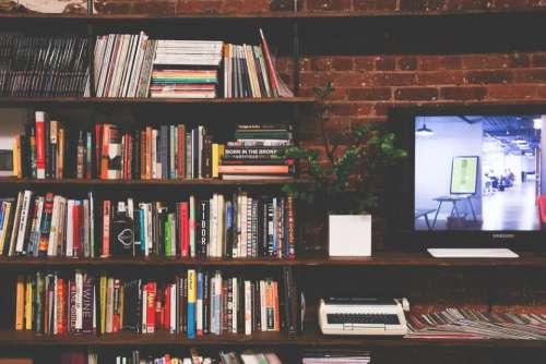 books bookshelf magazines reading office