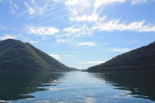 nature landscape lake river mountain