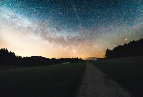 stars galaxy sky night evening