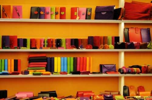wallets notepads cases shelves colors