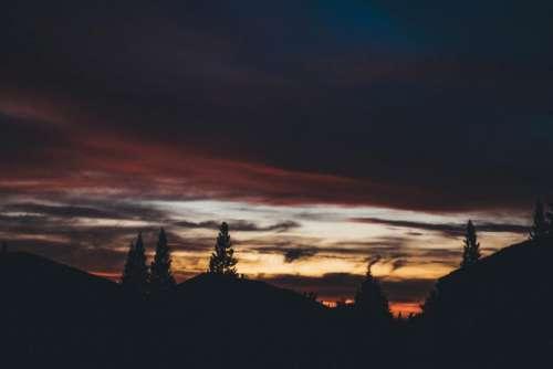 night dark evening sky clouds