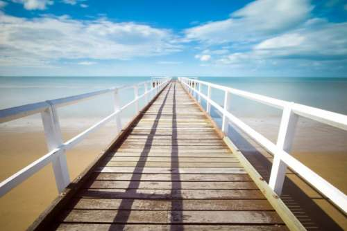beach sand tropical dock pier