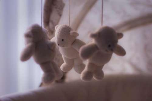 baby crib stuffed animals toys sleeping