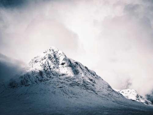 mountains snow landscape nature cold