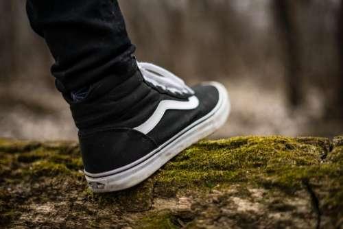 black sneakers shoe footwear green