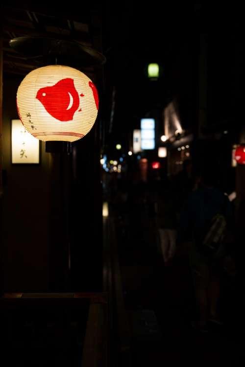 lantern dark night store shop