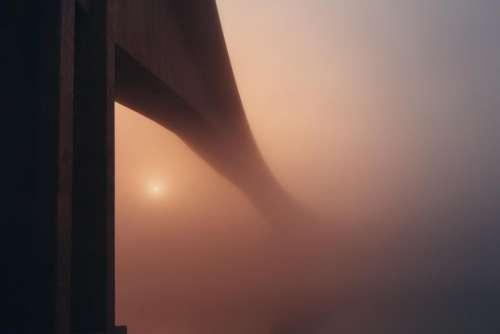 bridge architecture foggy haze hazy