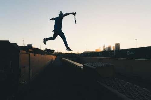 people man guy jump flying