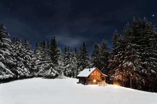 nature landscape snow winter cold