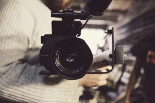 sony video camera lens production