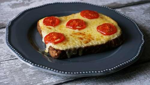 food cheese toast tomato snack food