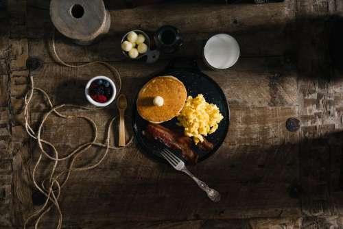 food eat breakfast pancakes eggs