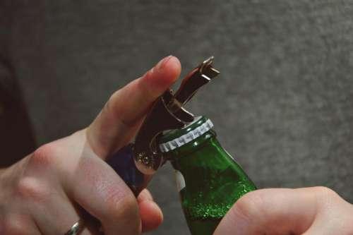 beer alcohol drinks bottle opener hands