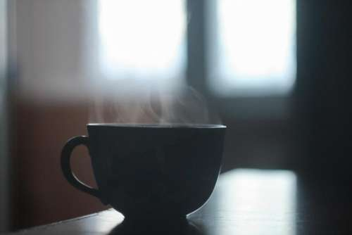 black cup mug coffee drink