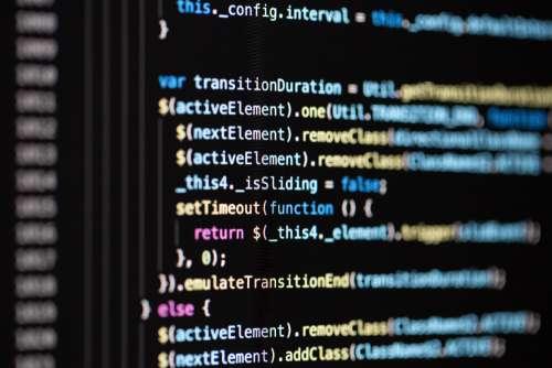 programming code close up macro computer