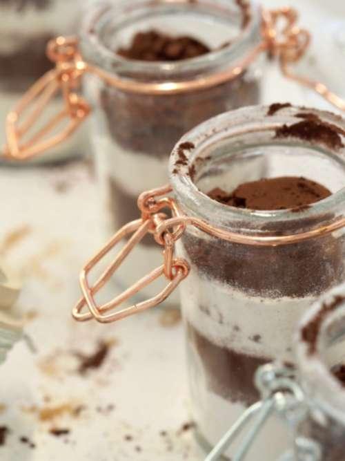 cocoa powder jar vintage rustic