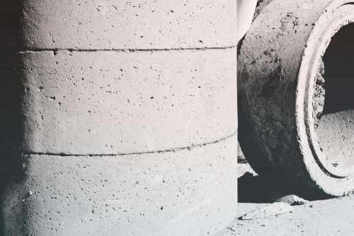 concrete cement circles black and white