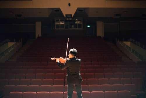 violin music musician boy auditorium