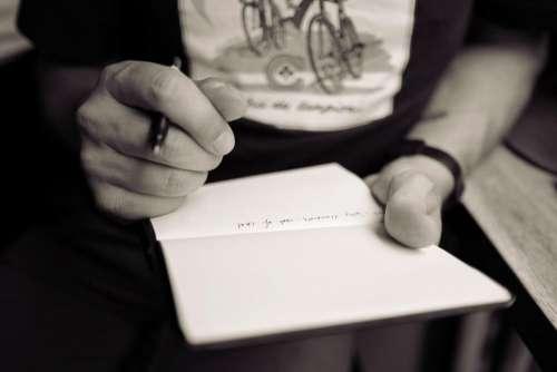 writing paper notepad notebook pen