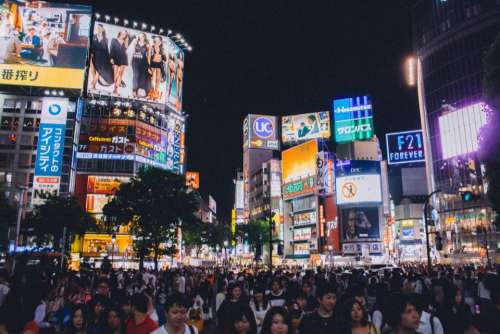 Shibuya crossing Tokyo Japan Asia people