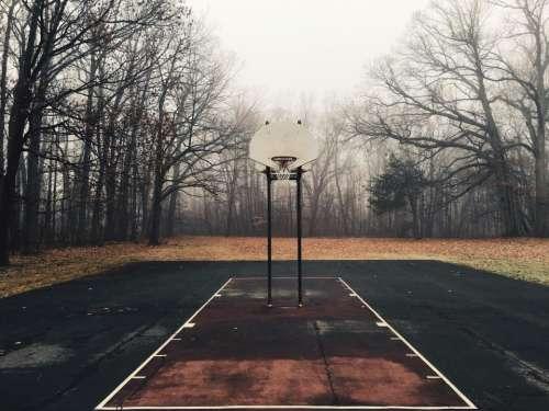 basketball court net hoops yard