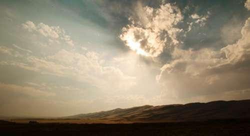 sky clouds sunlight sunrays sunny