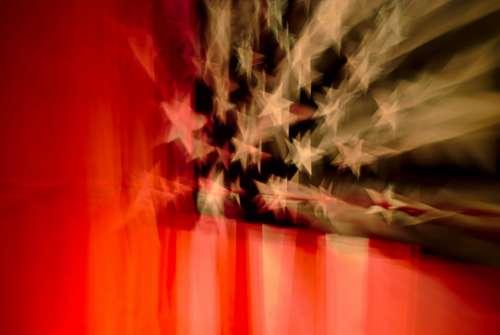 flag stars blur reflection